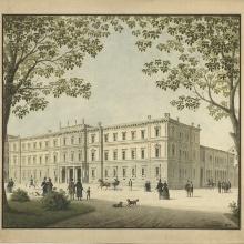 Ludwig Friedrich Gaab, Kronprinzenpalais in Stuttgart, Baugesuch 1845
